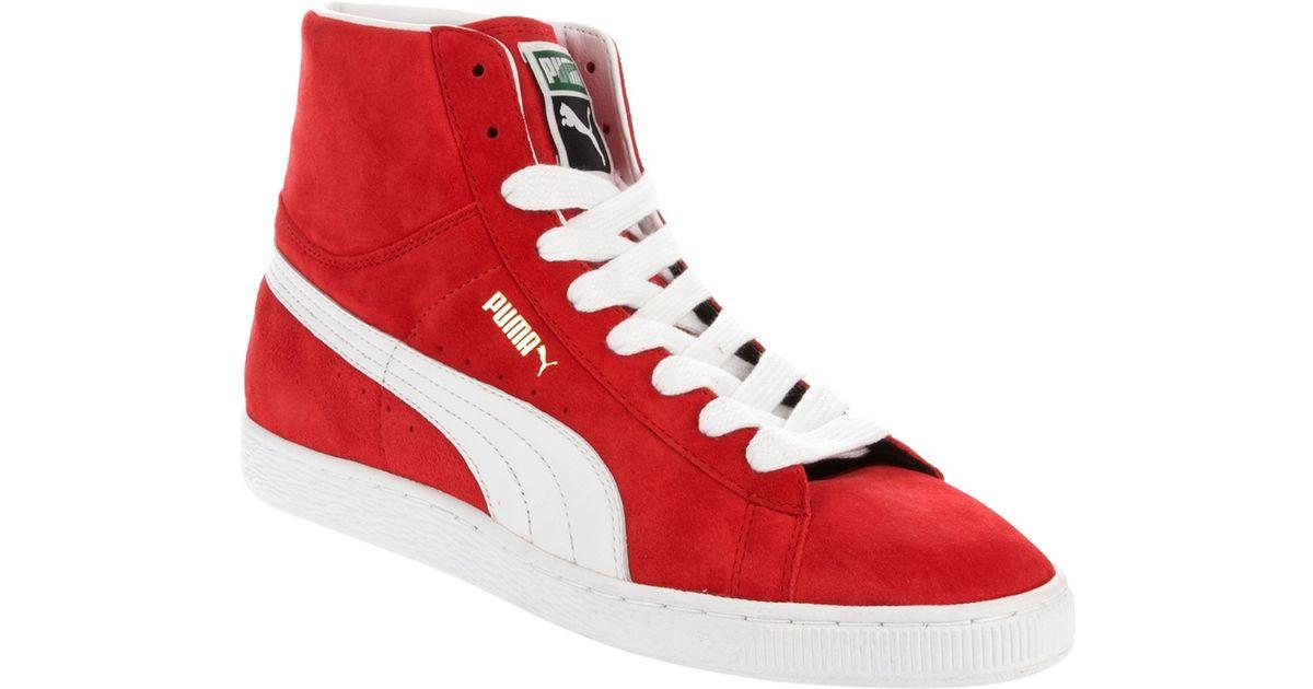 564c8b28 PUMA Red Hi Top Sneakers for men