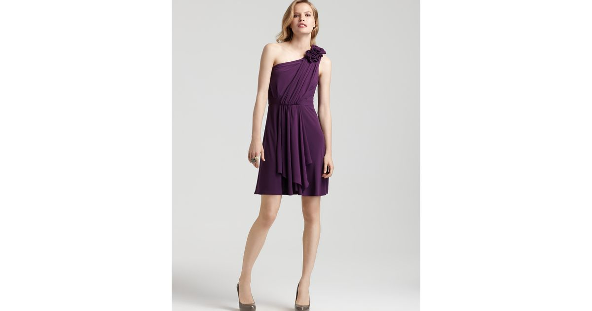 4890ce9d19904 Max & Cleo One-shoulder Ruffle Dress in Purple - Lyst