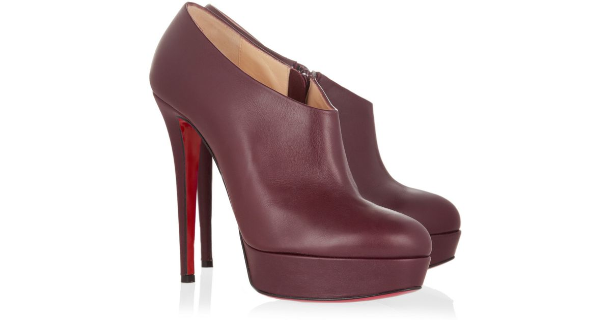 d726abecbc0 Christian Louboutin Purple Moulage 140 Leather Ankle Boots