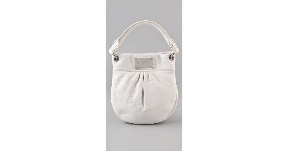 dff42bc973d11 Marc By Marc Jacobs Classic Q Mini Hillier Hobo in White - Lyst