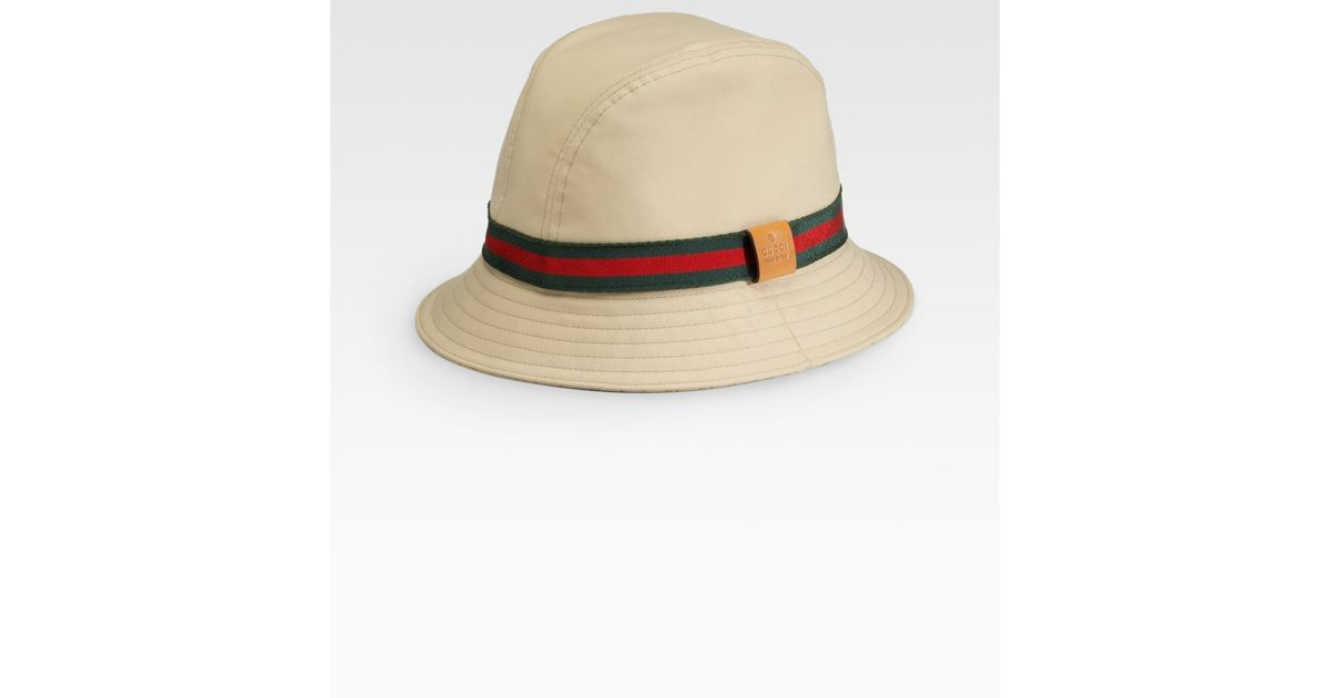 Lyst - Gucci Bucket Hat in Brown for Men 3a089f65b05