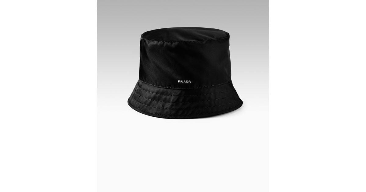 Lyst - Prada Nylon Bucket Hat in Black for Men 686445238a0