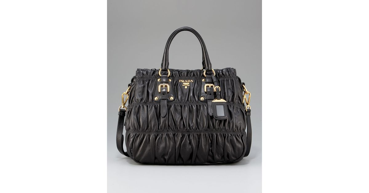 prada black nappa gaufre camera bag