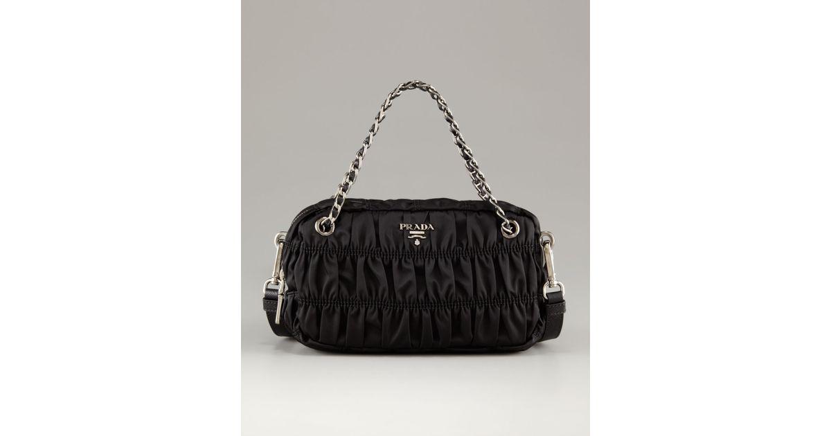 prada canvas bags - prada nylon small zip-top hobo bag, prada silver bag