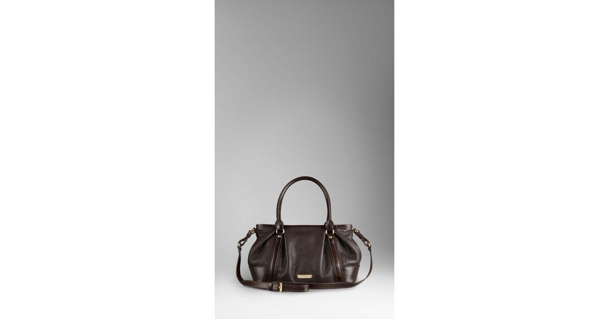 16c8577206af Lyst - Burberry Medium Leather Bowling Bag in Brown