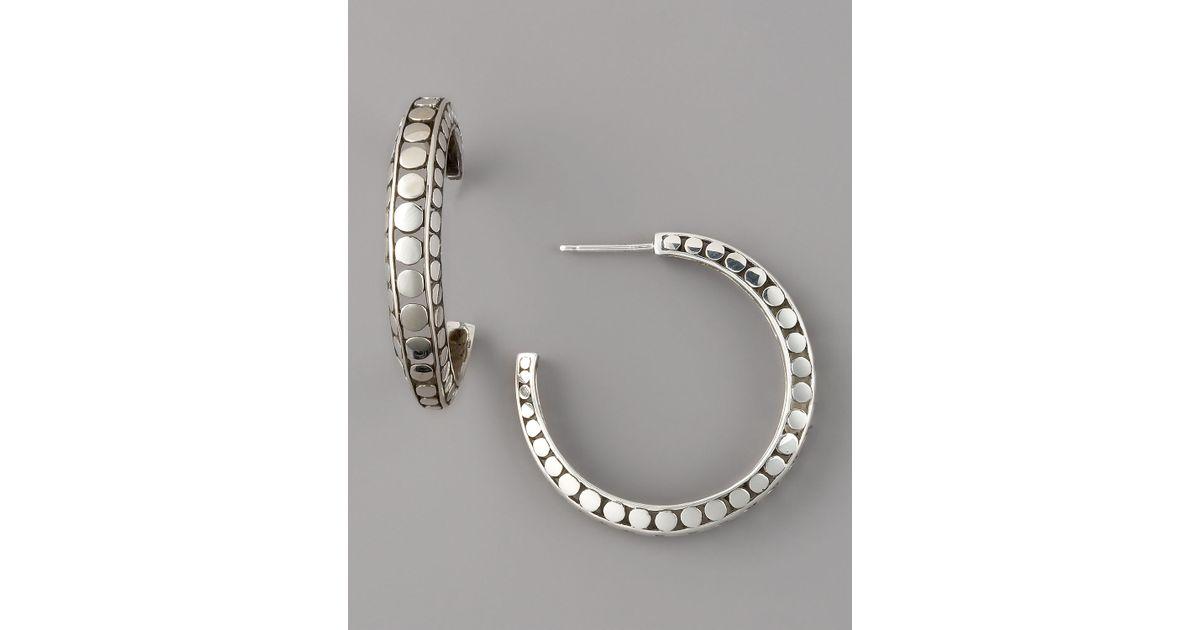 John Hardy Dot Medium Hoop Earrings YfhnS