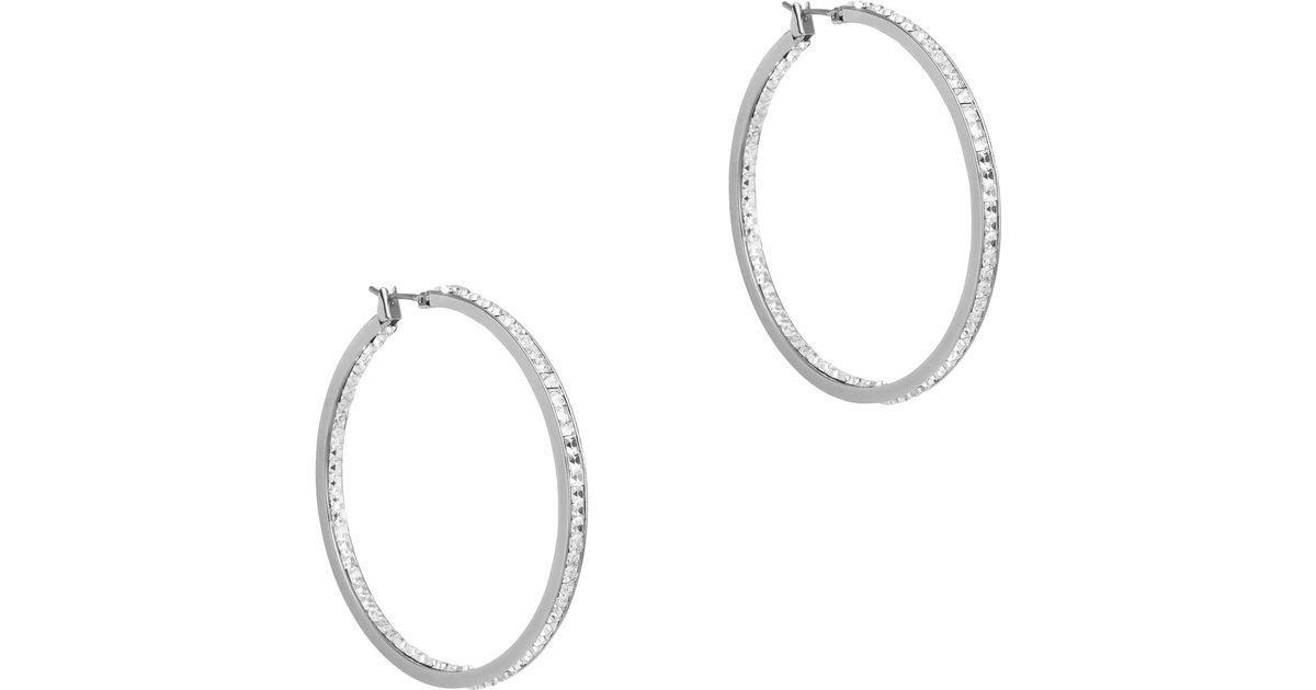 6085920c2 Michael Kors Silver Hoop Earrings - The Best Produck Of Earring