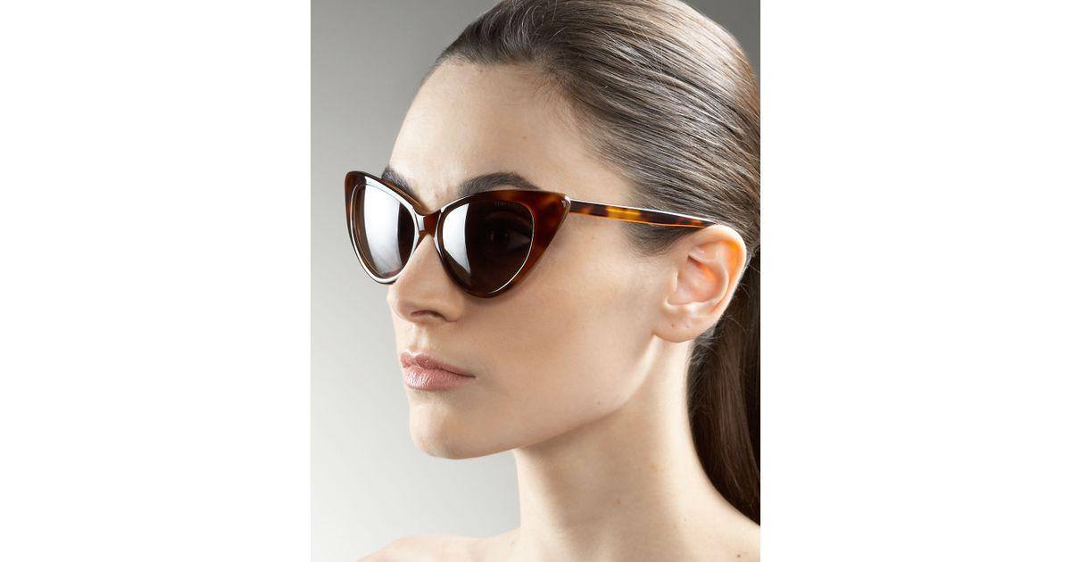 e7df40a9e31 Lyst - Tom Ford Nikita Cat Eye Sunglasses in Brown