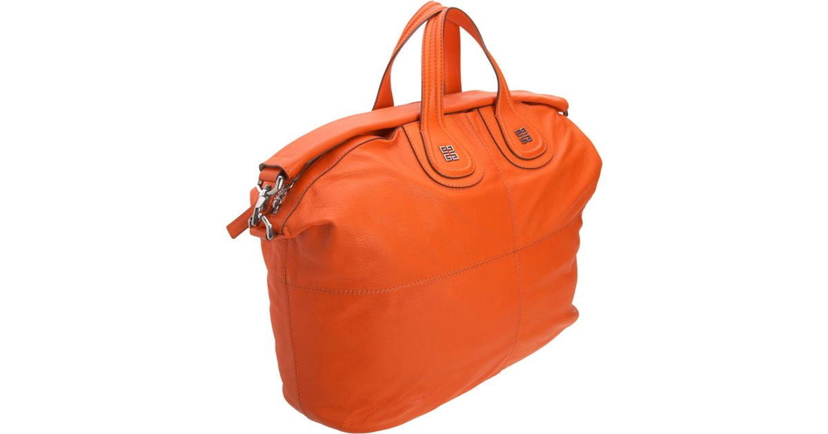 Givenchy Large Leather Nightingale in Orange - Lyst 8dcdb02785761