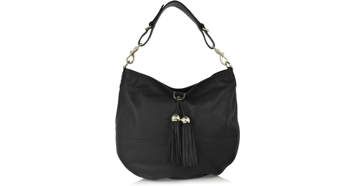 eeb5625141c5 ... where to buy lyst mulberry greta large leather bag in black 15daa 112a8