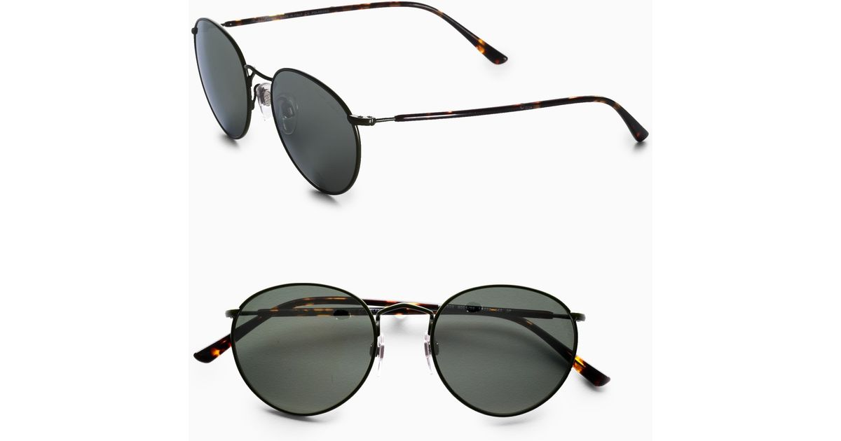 Lyst - Polo Ralph Lauren Small Round Sunglasses/Green Frames in ...