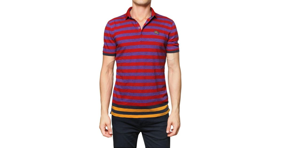 a793b204d Lyst - Burberry Brit Cotton Jersey Striped Polo for Men