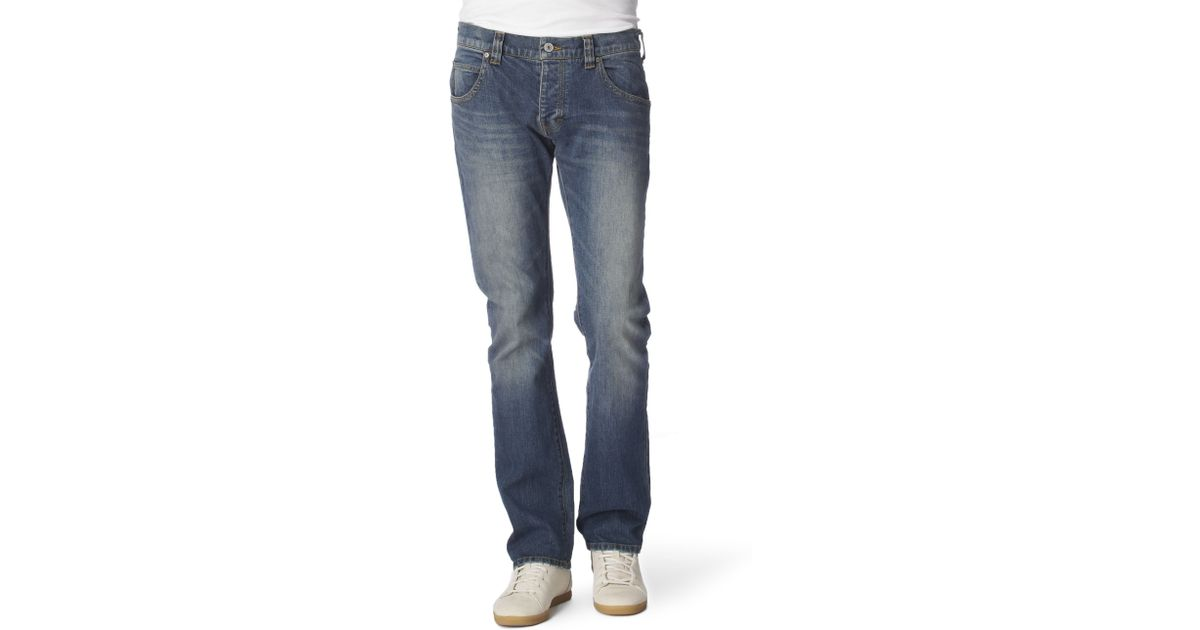 4253e00f Armani Jeans - Blue Slim Dirty Wash Jeans for Men - Lyst