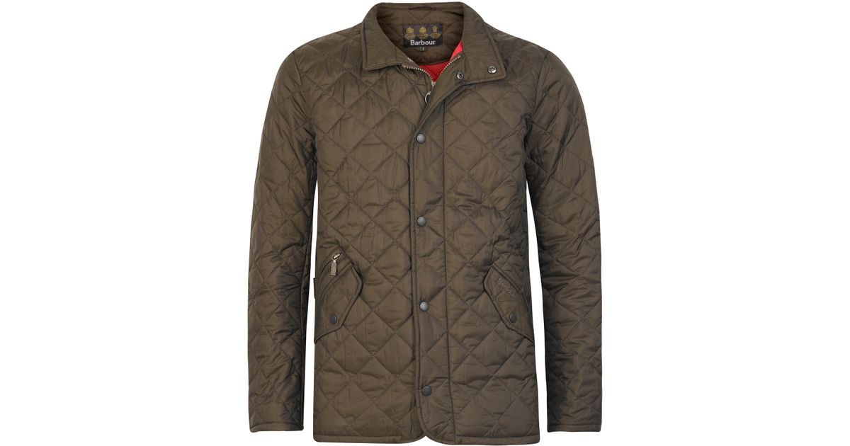da58737e7646a Barbour Olive Flyweight Chelsea Quilted Jacket in Green for Men - Lyst
