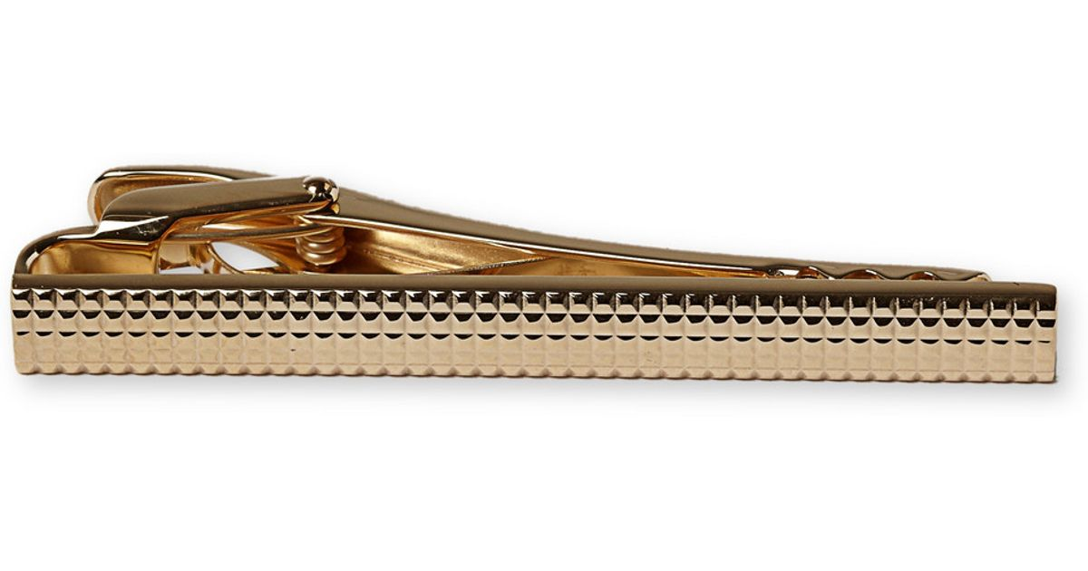 LANVIN Sophisticated 24 karat Gold Plated Tie Clip