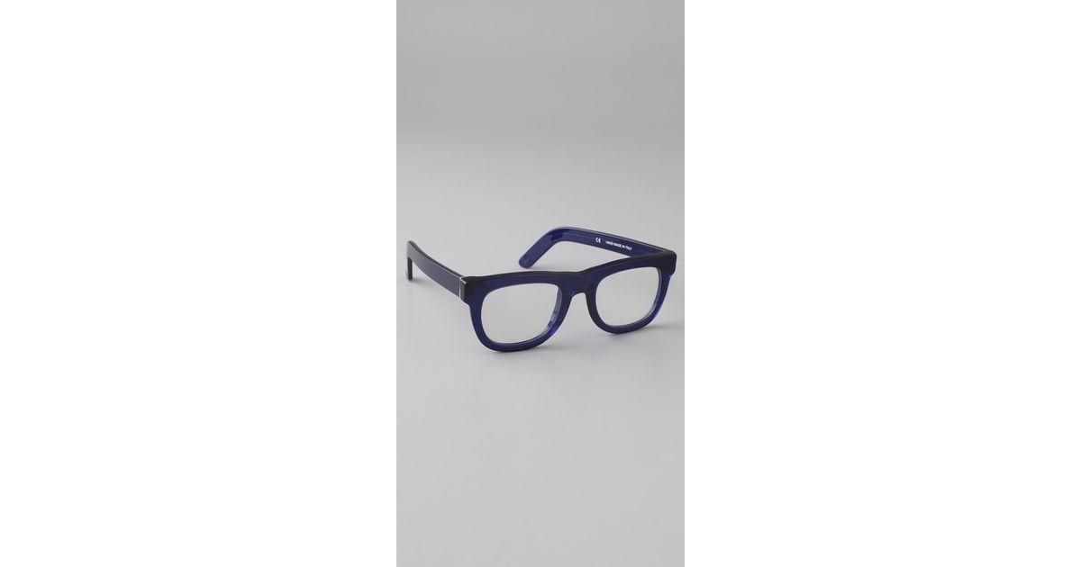 21e174452aab Lyst - Retrosuperfuture Ciccio Glasses in Blue