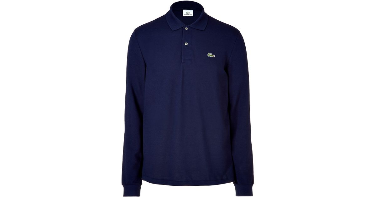 97e83a78 ... where to buy lyst lacoste marine long sleeve polo shirt in blue for men  1877c 0af9d