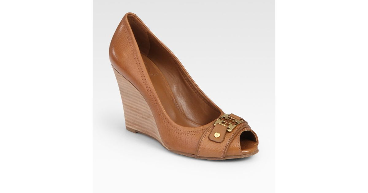 Tory Burch Carnell Leather Peep Toe
