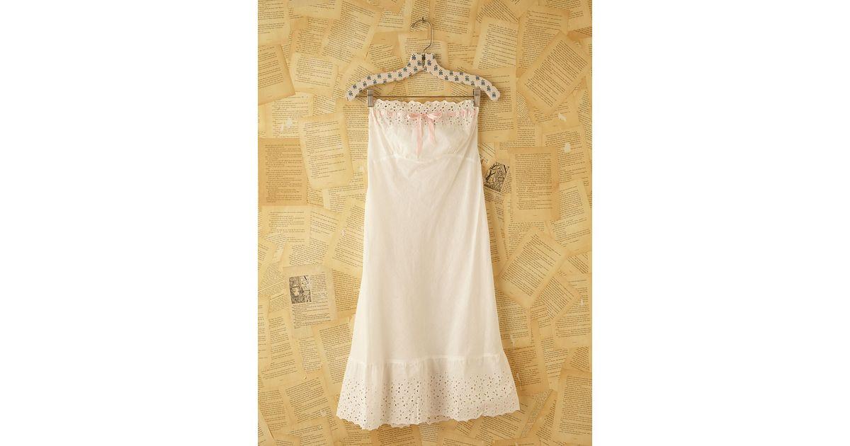 Lyst - Free People Vintage Victorian Slip Dress in White