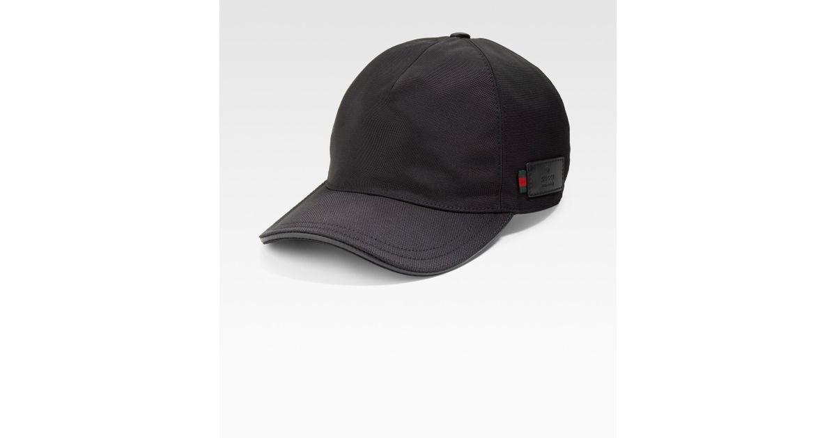 2e215ddf Lyst Gucci Canvas Baseball Hat In Black For Men. Gg Canvas Baseball Cap  Black Size Xl 60