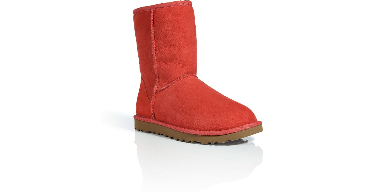 ugg classic short boots red
