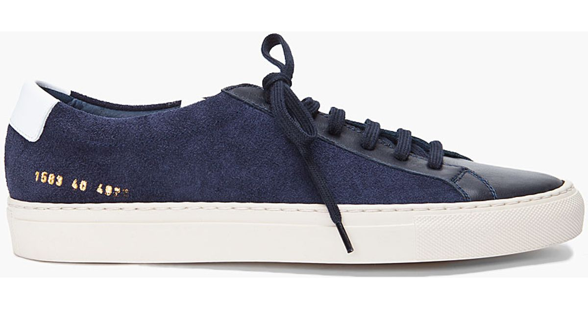 76ab8694e22a0 Lyst - Common Projects Navy Suede Vintage Sneakers in Blue for Men