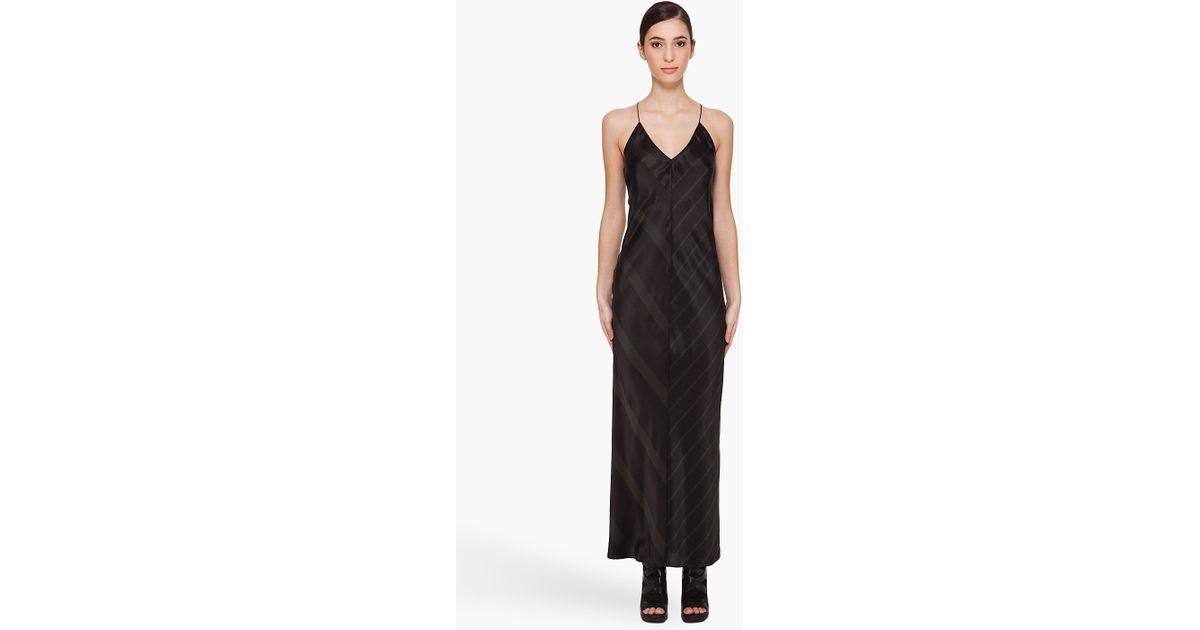 Collections Outlet For Sale T By Alexander Wang Woman Silk-trimmed Jersey Maxi Slip Dress Black Size M Alexander Wang Newest For Sale upmNA