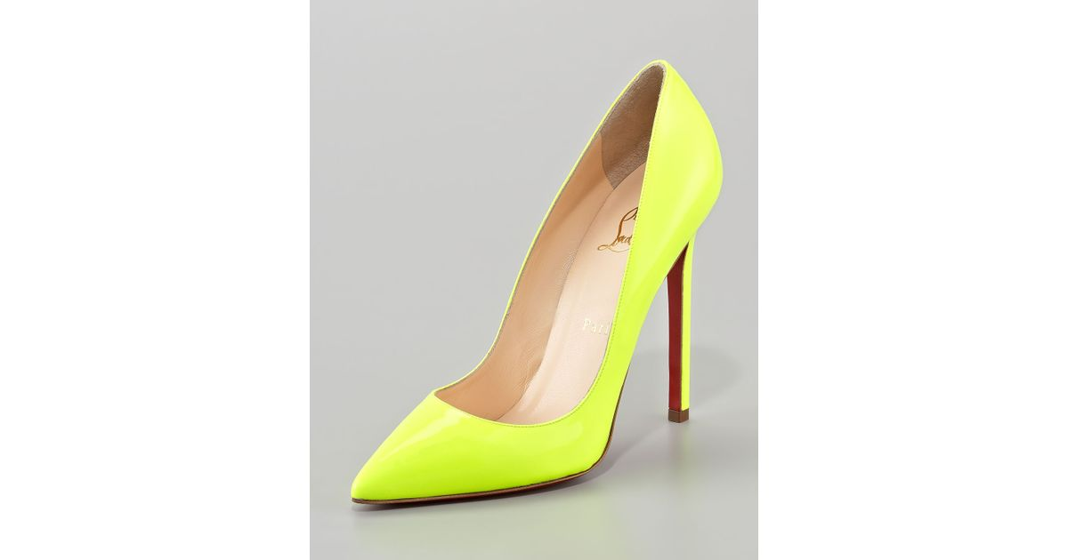 00b4f0a8f41 Christian Louboutin Yellow Pigalle Neon Pump