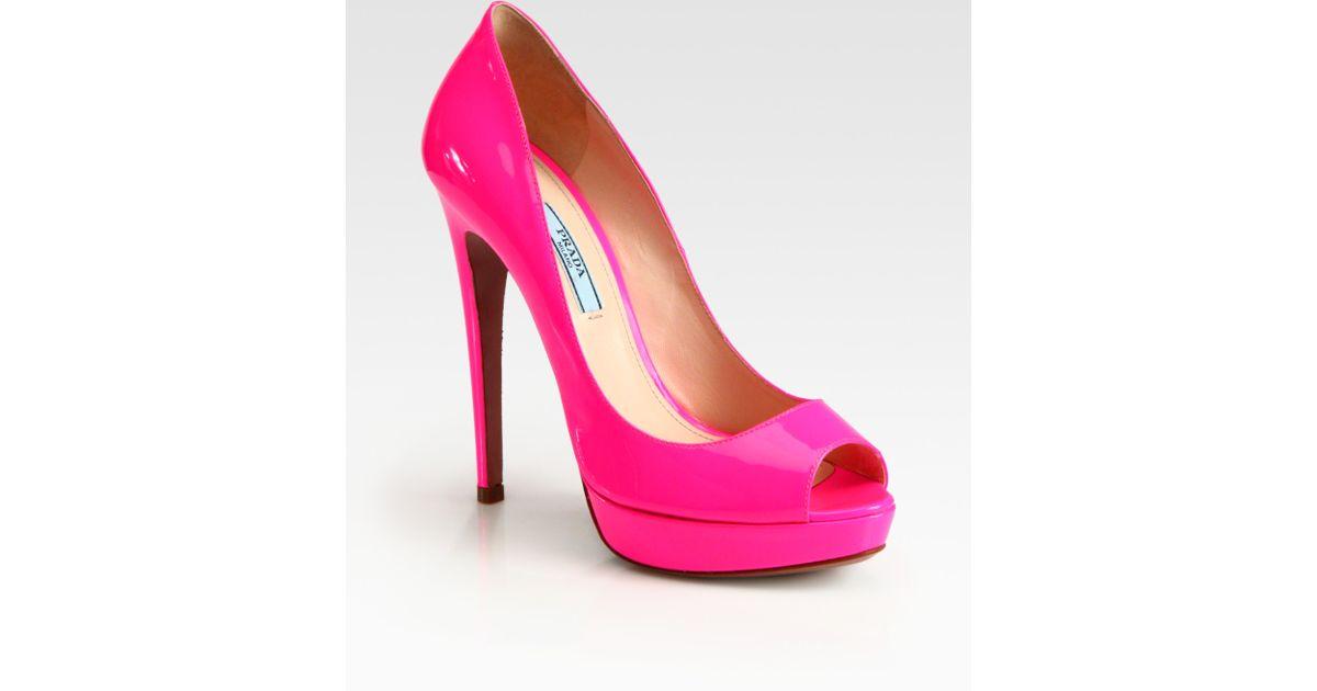 Pink Peep Toe Heels