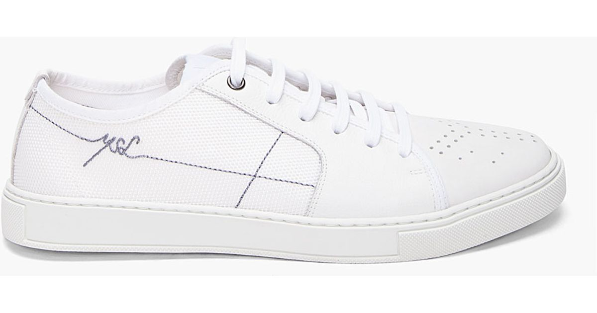 fb632b5786ac Lyst Men Laurent Low Sneakers Malibu In For Saint White sQdrCxth