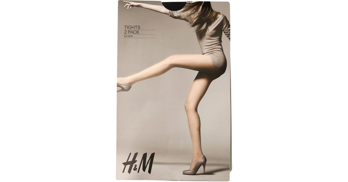 d9d8f36bae4c9 H&M 2-pack 20d Tights in Natural - Lyst