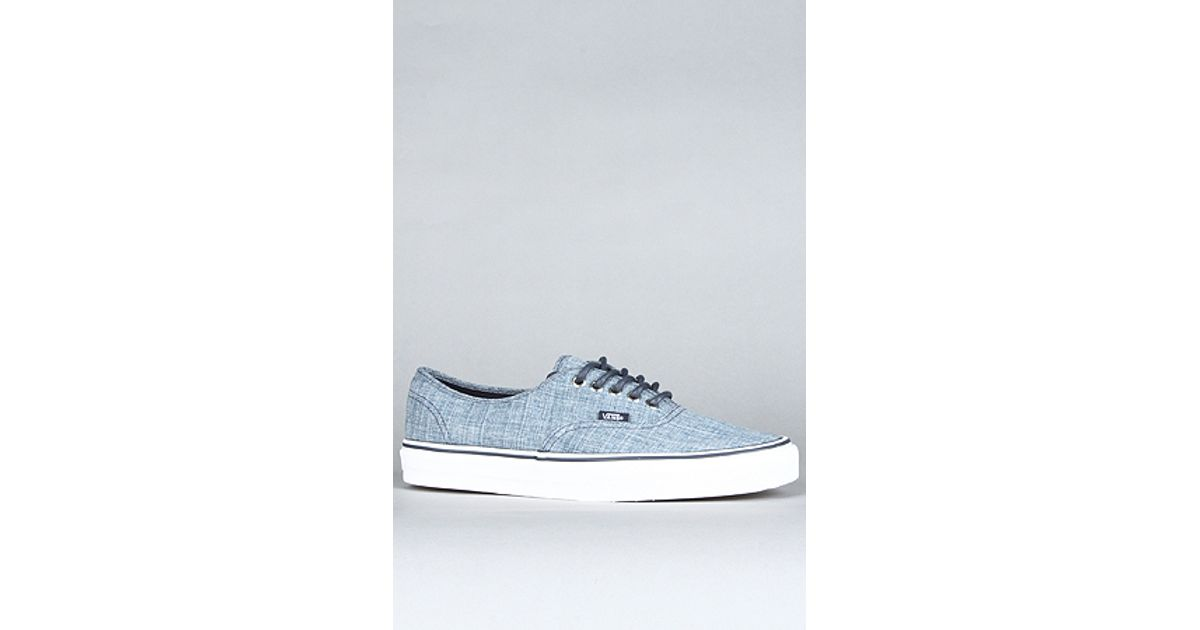 Lyst - Vans The Authentic Sneaker in Grindle Dress Blues in Blue for Men 2e2cad050
