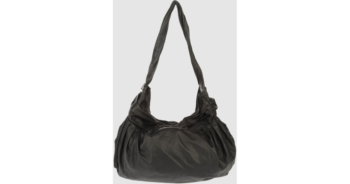 82287c0204474 Sissi Rossi Large Leather Bag in Black - Lyst