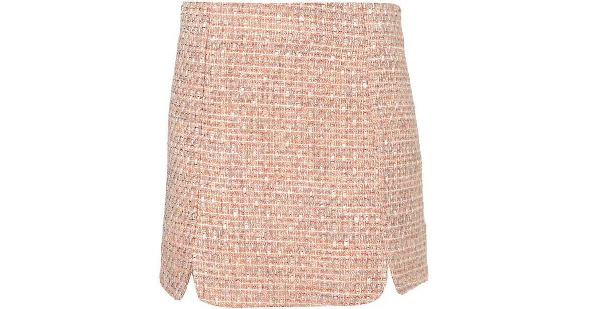 TopShop Pink Boucle A-Line Mini Skirt