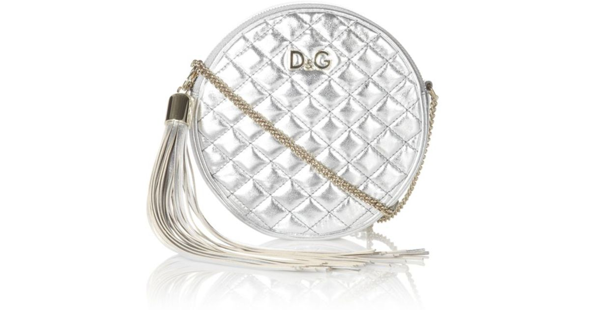 Dolce   Gabbana Lily Glam Round Crossbody Bag in Metallic - Lyst 8a2e3ad029f6c