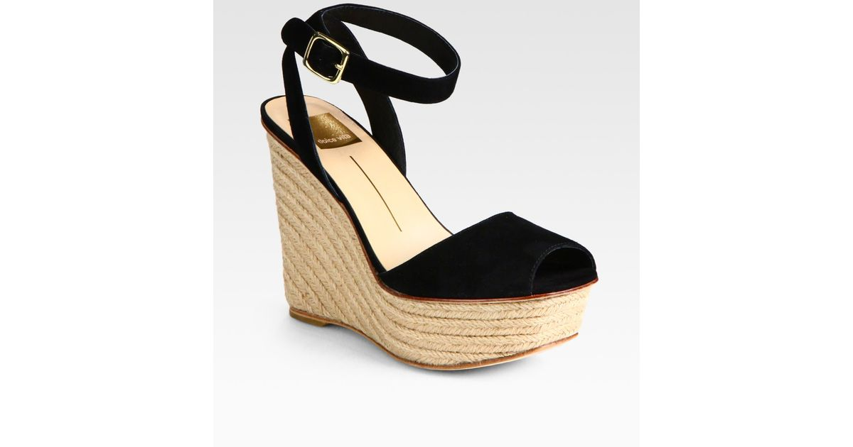 408c2b39a1c Lyst - Dolce Vita Suede Platform Espadrille Wedge Sandals in Black