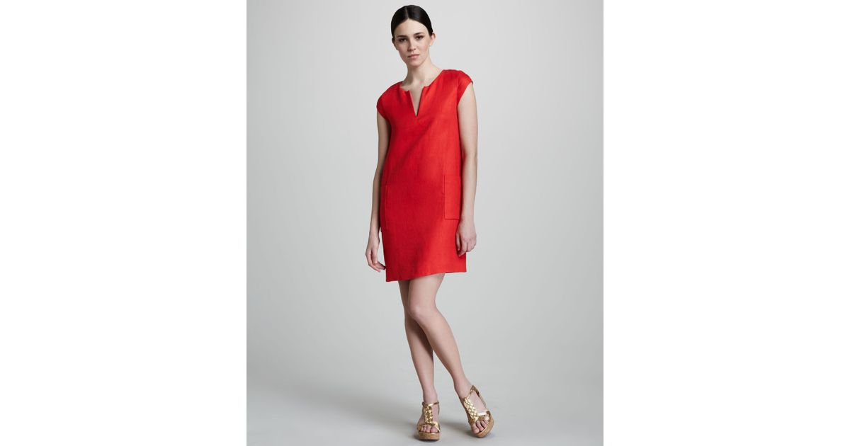 92f98ce0e8b Lyst - Kate Spade Teri Linen Shift Dress in Red