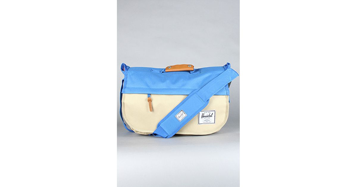 176a1f11cebb Lyst - Herschel Supply Co. The Mill Messenger Bag in Khaki Cobalt in Blue  for Men