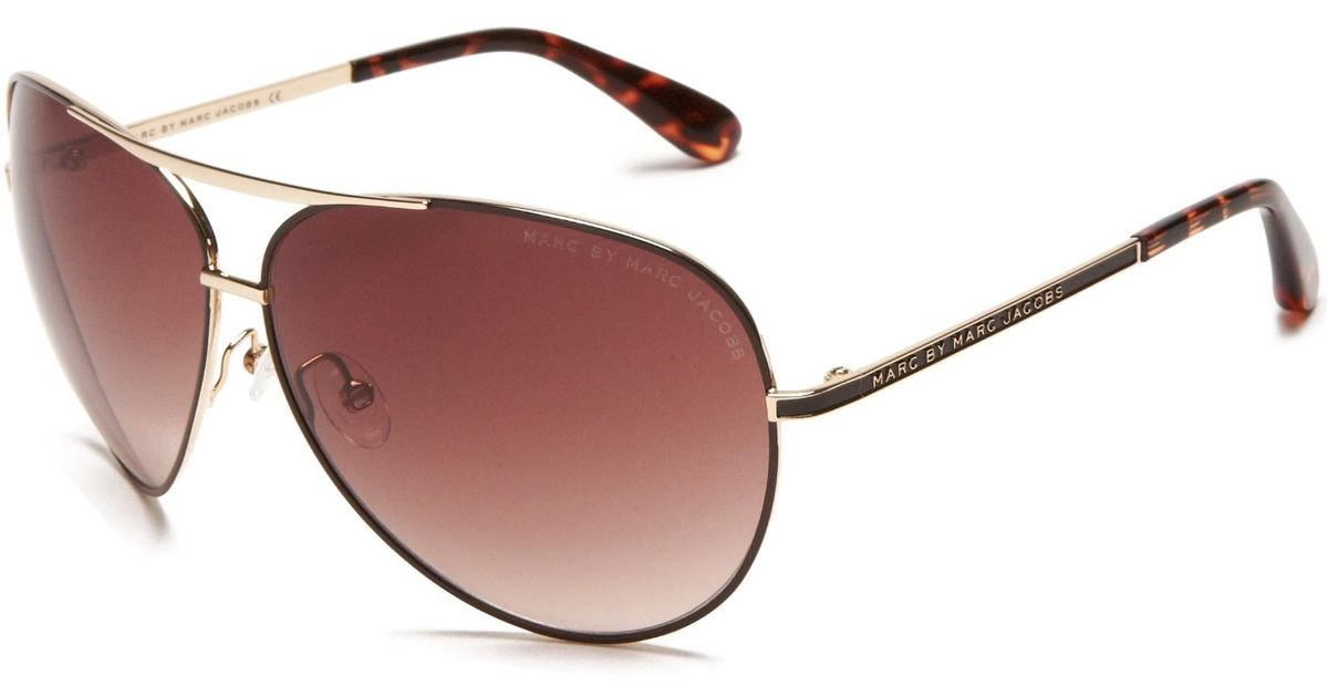 Marc Jacobs Gold Frame Sunglasses : Marc by marc jacobs 56mm Cats Eye Sunglasses in Black ...