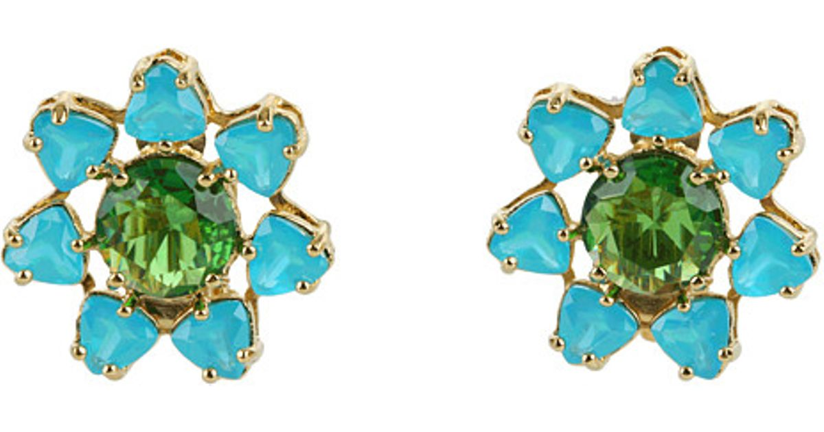 Lyst Kate Spade New York Solarium Clip Earrings In Blue