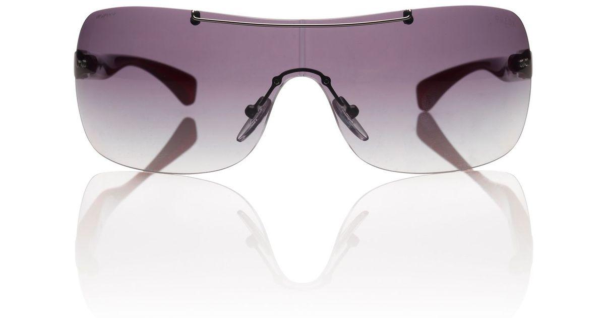 prada red mens sunglasses