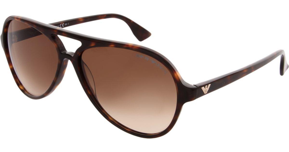 c3bb7ddc03b0 Emporio Armani Emporio Armani Aviator Sunglasses in Brown for Men - Lyst