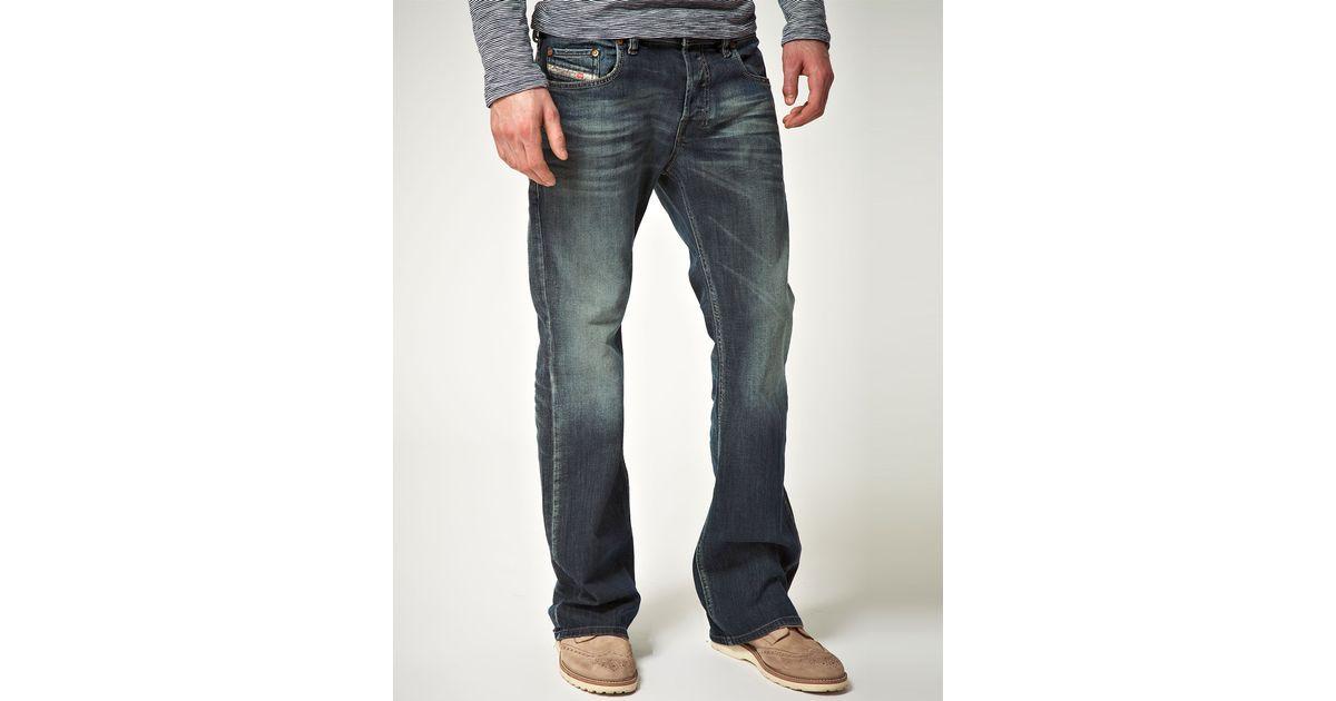 aeb46611 DIESEL Zathan 885k Bootcut Jean in Blue for Men - Lyst