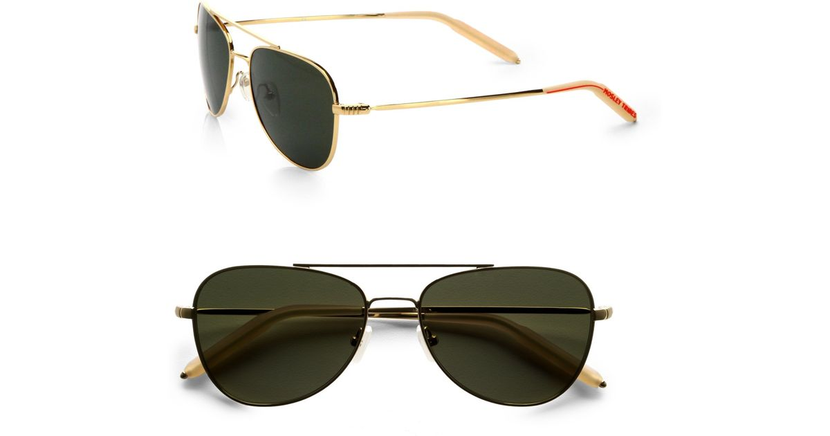 3b719061fe09f Mosley Tribes Mateo Aviator Sunglasses in Metallic for Men - Lyst