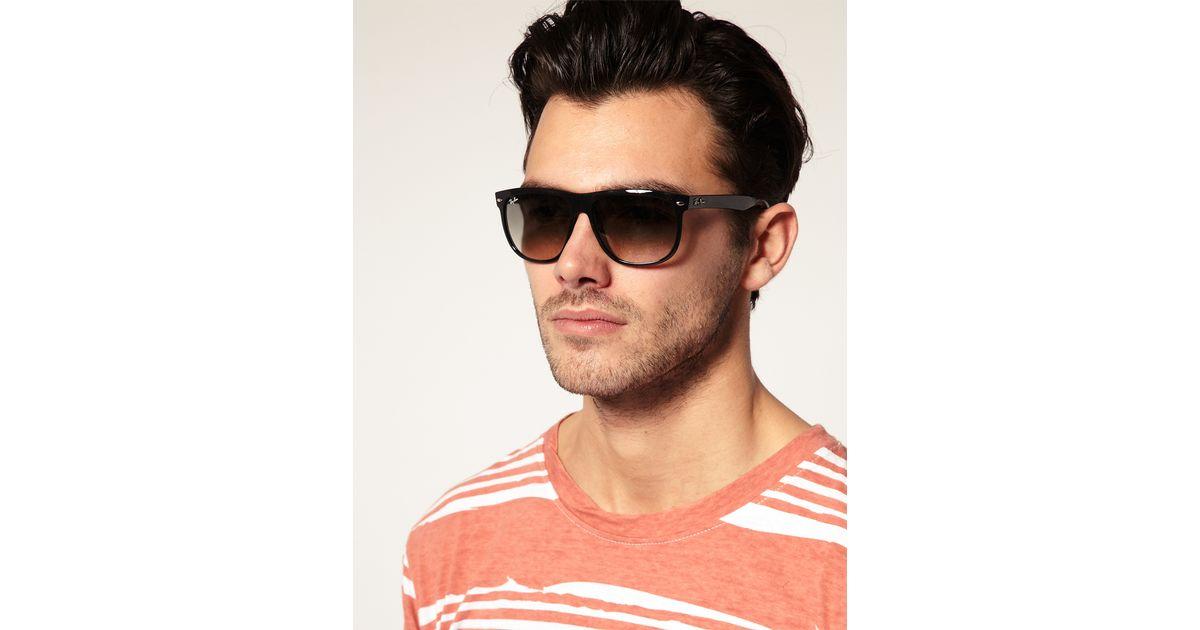 Ray Ban Black Rayban Flat Brow Wayfarer Sunglasses For Men