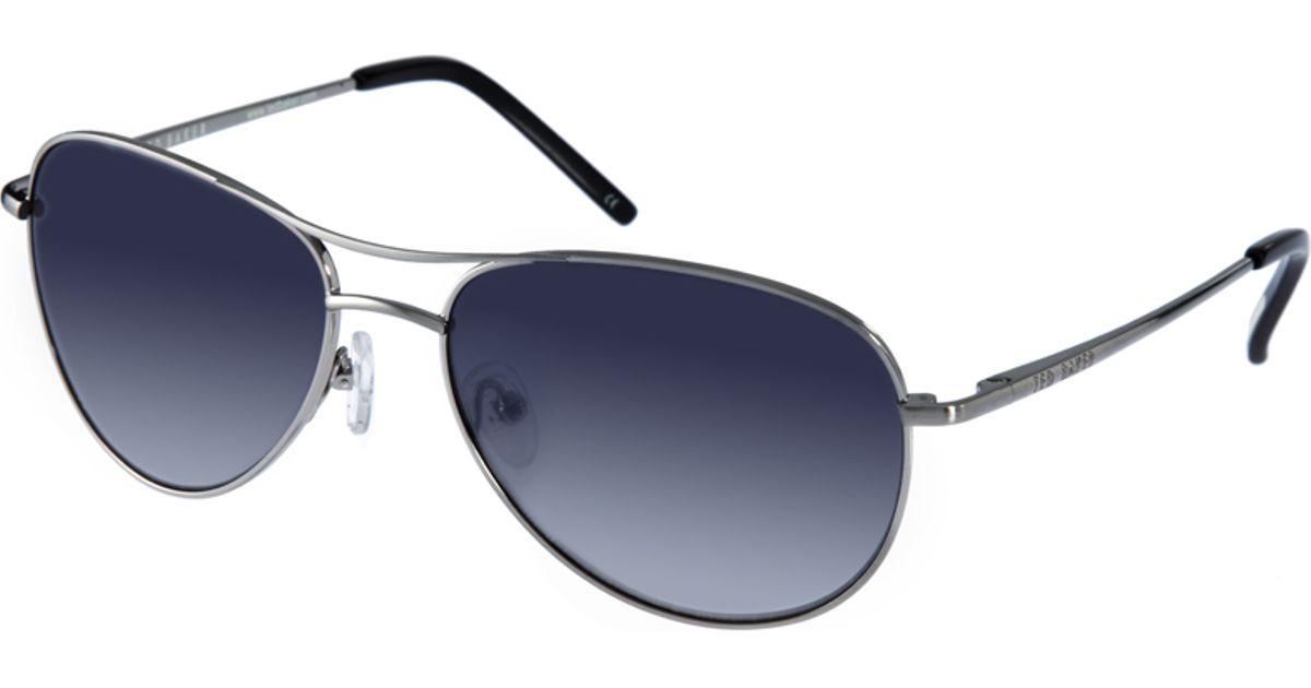 47950173c99 Lyst - Ted Baker Ted Baker Carter Aviator Sunglasses in Metallic for Men