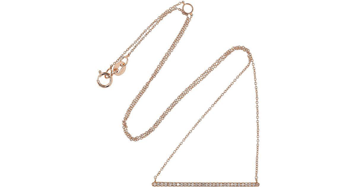 18-karat Rose Gold, Diamond And Malachite Necklace - one size Diane Kordas