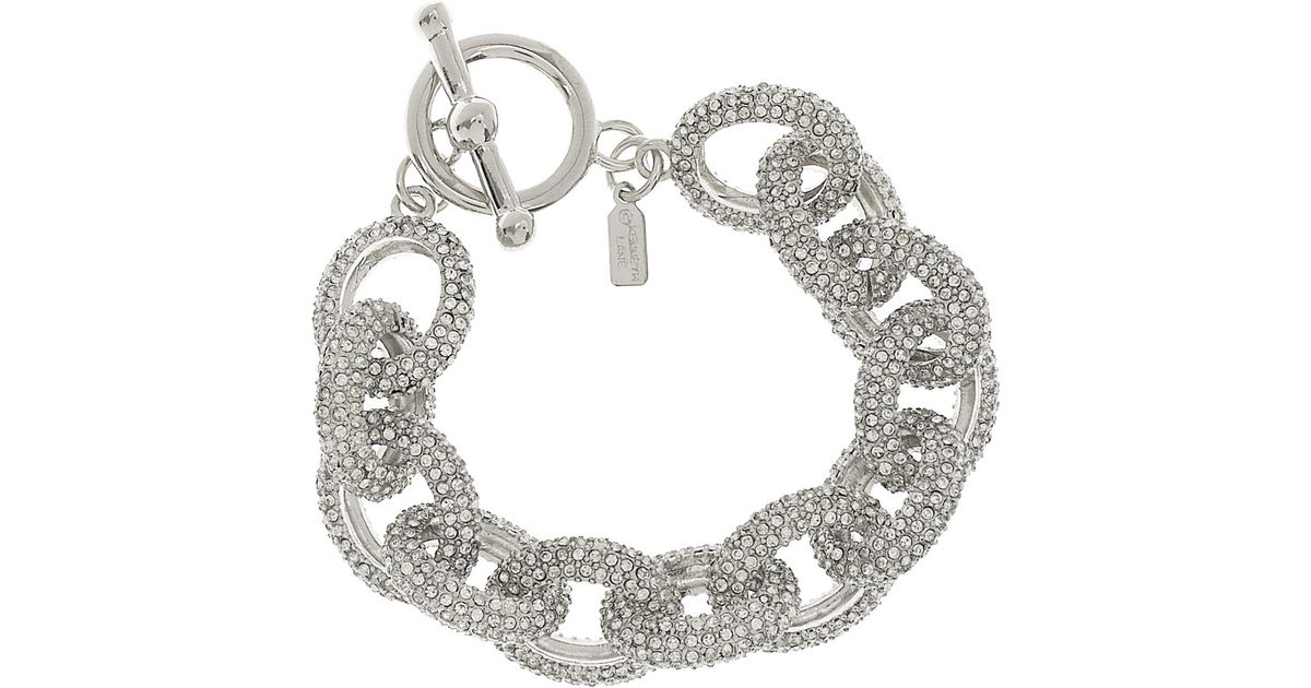 Image result for Silver Plated Pave Crystal Chain Bracelet kenneth jay