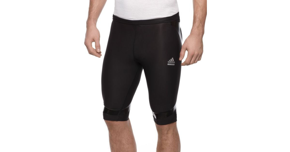 Deformación fácil de lastimarse Suri  adidas Techfit Powerweb Compression Short in Black for Men - Lyst