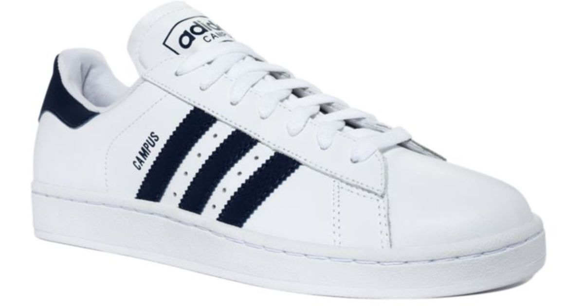 adidas Campus 2 Sneakers in White/Navy